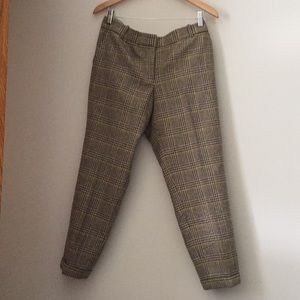 J. Crew Cafe Capri plaid pants/ fully lined